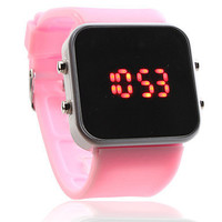 Pink LED Fashion Face Watch from Zefashionista