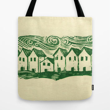 Sad Row Tote Bag by Eric Fan