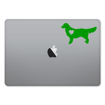 Golden Retriever Love Sticker for MacBooks and Apple Devices