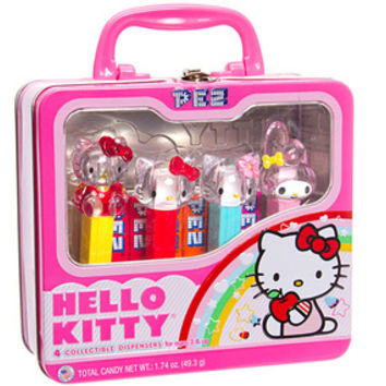 Hello Kitty PEZ Candy Dispensers: 4-Piece Collector Tin
