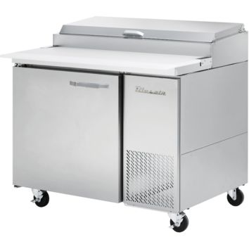 """Blue Air Heavy Duty 11.3 Cu. Ft. Refrigerated Pizza Prep Table 44"""" with 6 Pans"""