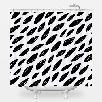 Naturally Black & White Shower Curtain