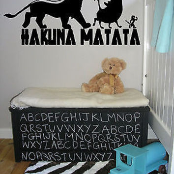 Wall Vinyl Sticker Decals Art Mural Hakuna Matata Words AL440