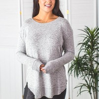 Enjoy The Journey Pullover- H. Grey