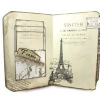 France Travel Journal - Paris Memory Book - Eiffel Tower Scrapbook
