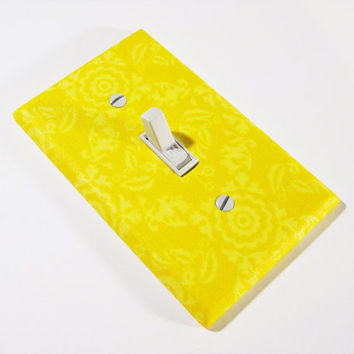 Sunny Yellow Damask Light Switch Cover Bright Summer Home Decor Modern Switch Plate Switchplate 230