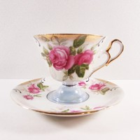 Relco Pink Rose Tea Cup and Saucer
