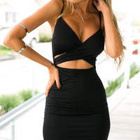 Wrapped Up Dress (black)
