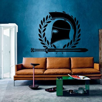 Wall Decor Vinyl Sticker Room Decal Armor Arms Panoply Gladiator Rome Greece Sparta Weapon Force Fighter Fight Warrior Sword (s82)