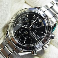 Omega Speedmaster 3513.50.00 Black Dial Chronograph Automatic Watch