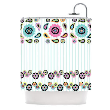 "Nina May ""Paisley Party"" Paisley Flower Shower Curtain"