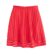 J.Crew Womens Striped Eyelet Skirt