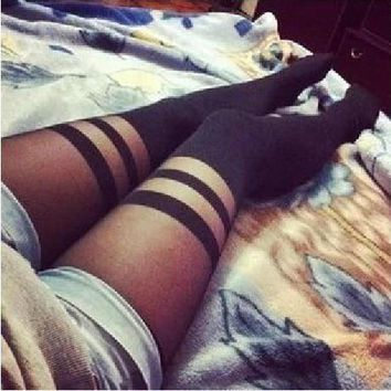 Tight Pure Color Long Socks Stockings