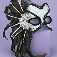 Karneval Style Female Mask - Silver