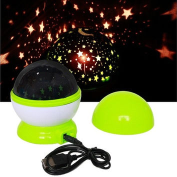 LED Night Light Rotating Sky Cosmos Star Projector Romantic Lamp [9145122054]