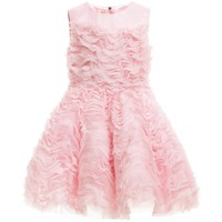 Pink Silk & Tulle Dress with Petticoat Skirt