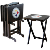 Pittsburgh Steelers NFL TV Tray Set with Rack