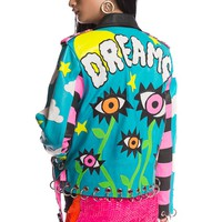 CACTUS DREAM$ HAND-CUT LEATHER JACKET