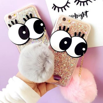 Cute Fur Case Cover for iPhone 7 7 Plus & iPhone 5s se + iPhone 6 6s Plus + Gift Box-68