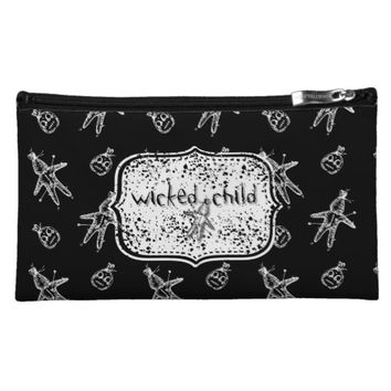 Wicked Child Voodoo Doll Cosmetic Bag