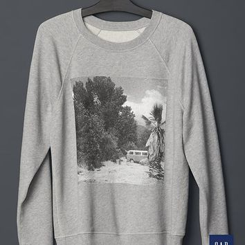 Gap Men + GQ NSF Distressed Sweatshirt