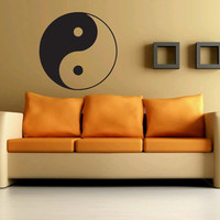 Awesome Gift Wall Vinyl Sticker Decals Mural Art Decor Design Yin Yang Sign Yoga Peace 361