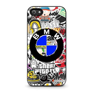 BMW STICKER BOMB iPhone 5 / 5S / SE Case Cover