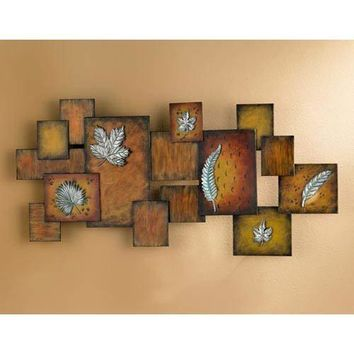 Leaves Abstract Wall Art Panel