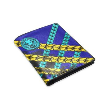 Leather Blue Chain Mens Wallet