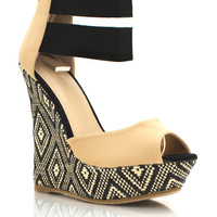 peep-toe-wedges BLACK NATURAL - GoJane.com
