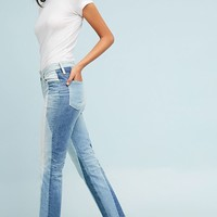 AG The Isabella Ultra High-Rise Cropped Straight Fray Jeans