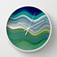 OCEANSCAPE ABSTRACT Wall Clock by Catspaws