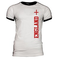 World Cup England Mens Soccer Jersey T-Shirt