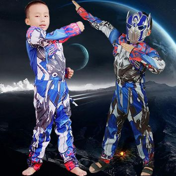 Children Halloween Cosplay Costume Kids Heroes Suit Children's Clothing Transformers Cosplay Performance Clothes B-5043