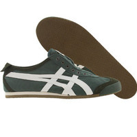 Asics Onitsuka Tiger Mexico 66 Slip On CV (hunter green / white) Shoes D1B2N-8401 | PickYourShoes.com