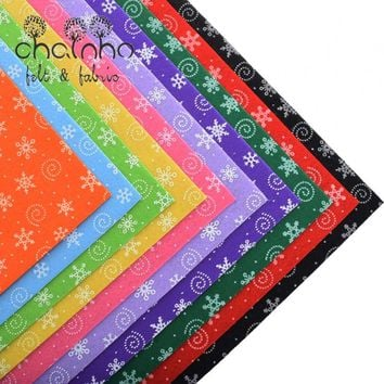 Printed Polyester Nonwoven Fabric Cloth/Handmade Sewing Hometextile Dolls 10pcs Christmas Pattern 30x30cm