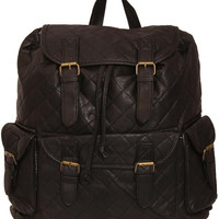 Peri Quilted Backpack Bag in Black