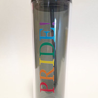 Gay Pride Tall Tumbler Rainbow Lesbian Pride Travel Cup