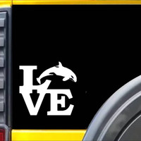 Orca Killer Whale Love Decal Sticker *I689*
