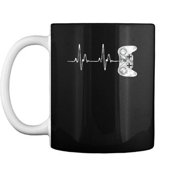 Gamer Heartbeat  Video Game Lover Gift  Mug