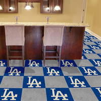 "MLB - Los Angeles Dodgers Carpet Tiles 18""x18"" tiles"