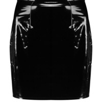 High Waist Vinyl Mini Skirt | Boohoo