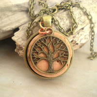 Cork Necklace: Tree of Life - Wine Cork Jewelry - Wine Jewelry - Unique Necklace - Upcycled Necklace - Free Shipping Worldwide