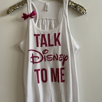 IG - FLASH SALE - Talk Disney To Me - Ruffles with Love - Racerback Tank - Womens Fitness