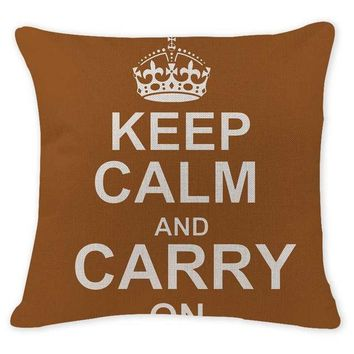 Keep Calm and Carry On - Brown