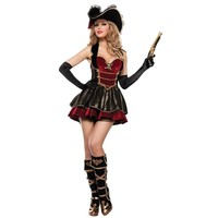 Sexy Pirate Cosplay Costume Halloween Uniforms for Women Size M