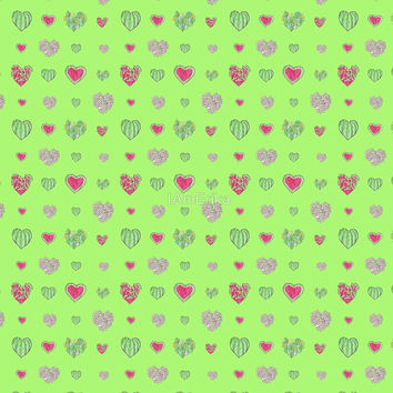 For the love of Watermelon - green background by IAmErika