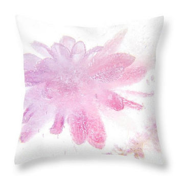 Pink pillow. Pink Flower Cushion. Floral Pillow, Floral Pillow, White Pillow, Botanical Pillow, Pillow Cover. Photo Art Abstract