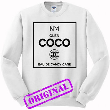 no 4 glen coco made me do it for sweater white, sweatshirt white unisex adult