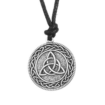 Punk Knotwork Triquetra Trinity Fashion Rope Ethnic Necklace Women Portugal Vintage Accessories Pendant Wicca Pagan Jewelry